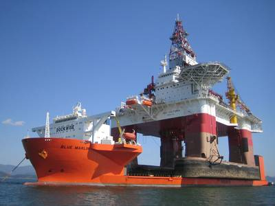 'Blue Marlin at Work': Photo credit Dockwise