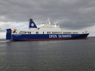 RoRo Petunia Seaways: Photo courtesy of DFDS