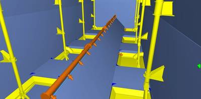 Screenshot: ... the 3D modeling and production information advantages of Nupas-Cadmatic.