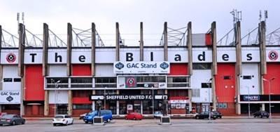 'The Blades' Football Ground: Photo credit GAC