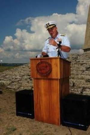 Acceptance Speach by Rear-Admiral Michael N. Parkes: Photo credit USCG