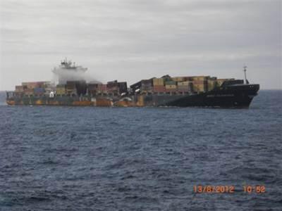 Earlier Photo MSC Flaminia: Credit  Reederei NSB