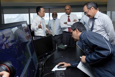 Officials at New MPA Control Centre: Photo credit MPA