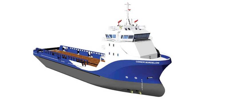 The Stingray design – ABS SOLAS classed, Full Oceans, L&I, ACCU, FIFI 1, DP2, AMS – utilizes special software and a combination of large and small generators to maximize fuel efficiency.