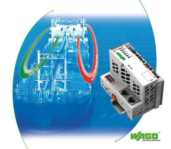 The new WAGO ETHERNET MR Controller supports redundant networks via two independent network ports.