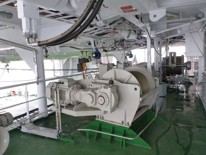 Electric CTD Winch, HW-2300E, aboard South African research vessel RV S.A. Agulhas II