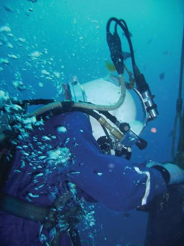 A Chet Morrison diver works on a subsea project.