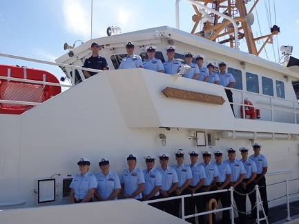 The crew of Coast Guard Cutter Margaret Norvell. U.S. Coast Guard photo.
