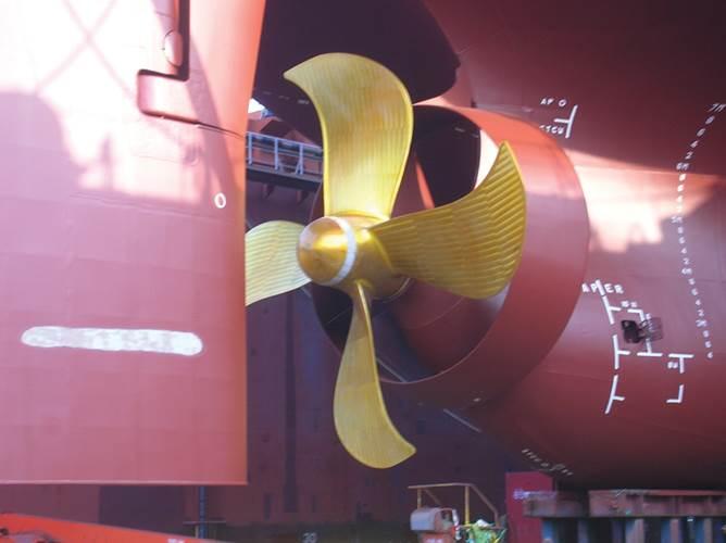 6.8 meter diameter propeller and matching Becker Mewis Duct