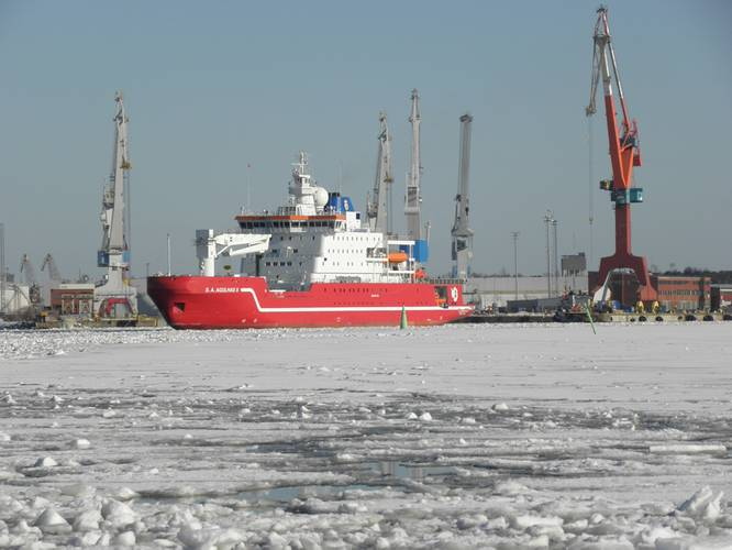 S.A. Agulhas II, a Polar Supply and  Research Vessel for South Africa