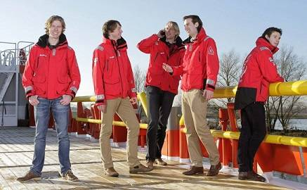 Arctic Minor team, from left to right: Max van der Zalm, Tobias Schaap Reinier Bos, Martijn Obers, John Huisman