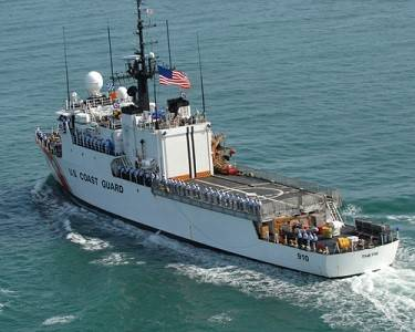 Coast Guard Cutter Thetis is the 10th ship of the Famous-class cutters and the third vessel to bear the name. U.S. Navy photo by Chief Petty Officer Anthony Casullo.