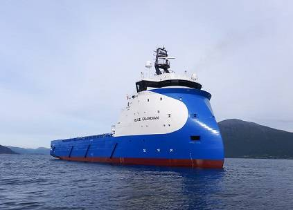 Blue Guardian on sea trial (Photo: Ulstein Group/Don Johansson)