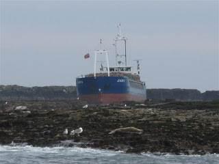 MV Danio hard aground