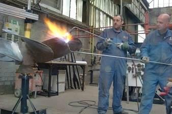 straightening of the propeller blades