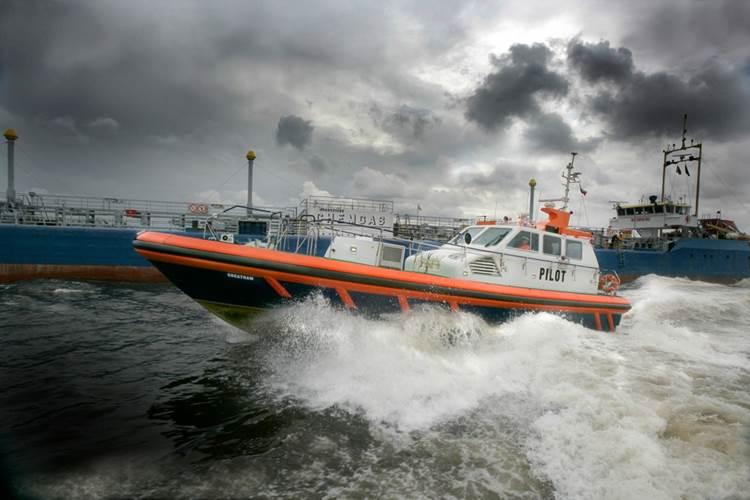 Pilot boat powered by Scania marine engine: Photo courtesy of Scania