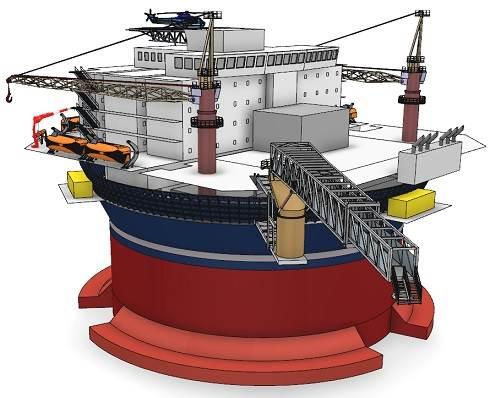 Sevan offshore accommodation vessel illustration