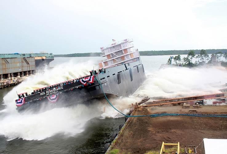HOS Renaissance launch: Image courtesy of Eastern Shipbuilding Group