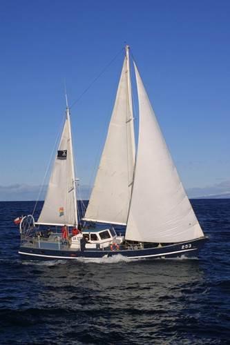 From the motorsailer,Chonos, ROVs are deployed to explore wrecks around the Magellan Straits