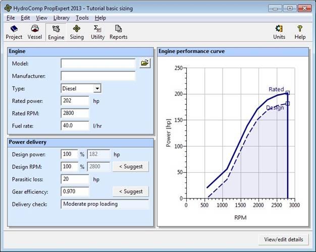 Figure 2 – HydroComp PropExpert 2013 interface