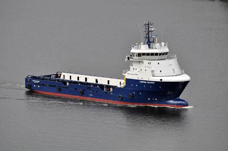 Caspian Provider, a 6,300 BHP PSV operating in Topaz's Caspian fleet.
