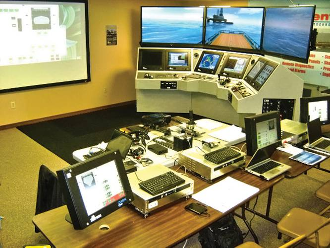The Technical/Maintenance Training Simulator Room, which is used to train crews on trouble-shooting and maintenance.