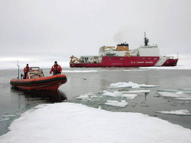 The U.S. Coast Guard cutter USCGC Healy (WAGB 20) is designed to support scientific research in the Arctic  Ocean. U.S. Navy photo by Aerographers Mate 1st Class Gene Swope