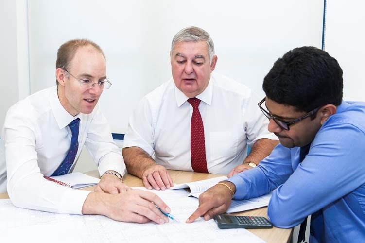 Ian Meaden, Des Upcraft and Lijo Thomas