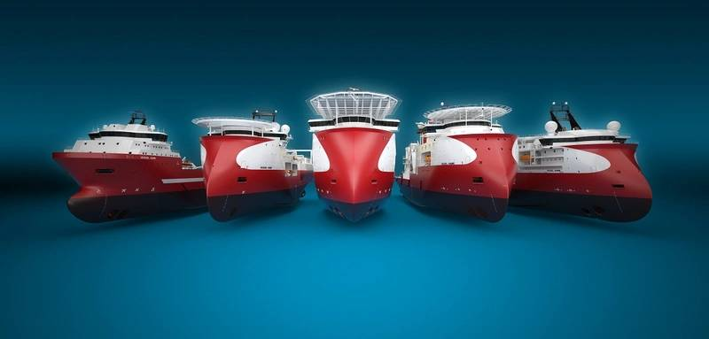 Five of Ulstein's offshore designs