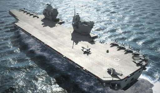 Rendering of Queen Elizabeth Class Aircraft Carrier (Photo: U.K. Royal Navy)