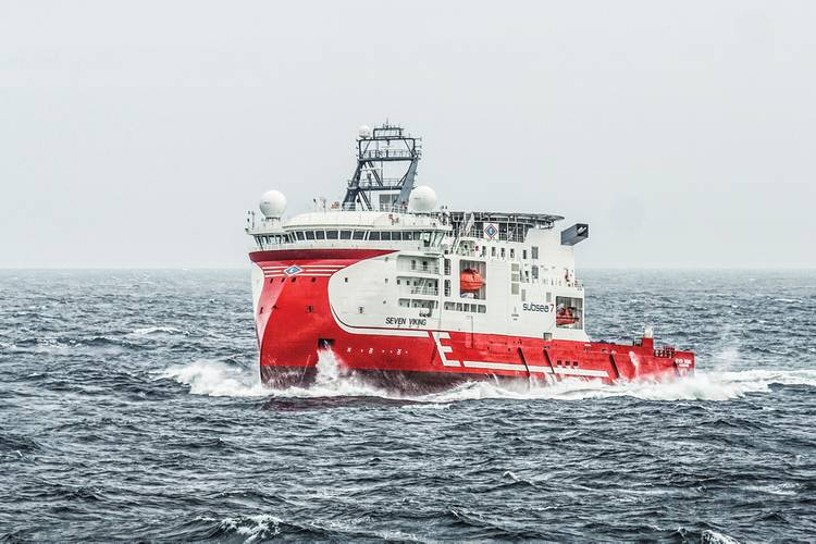 Incorporating the X-Bow design, the inspection, maintenance and repair vessel Seven Viking was built for Subsea 7 and Eidesvik and entered service in 2013. (Photo: Ulstein)