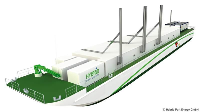 3D Illustration of the LNG Hybrid Barge