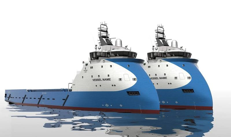 Ulstein Verft is contracted to build two new platform supply vessels of the PX121 design type for Blue Ship Invest. (Copyright ULSTEIN.)