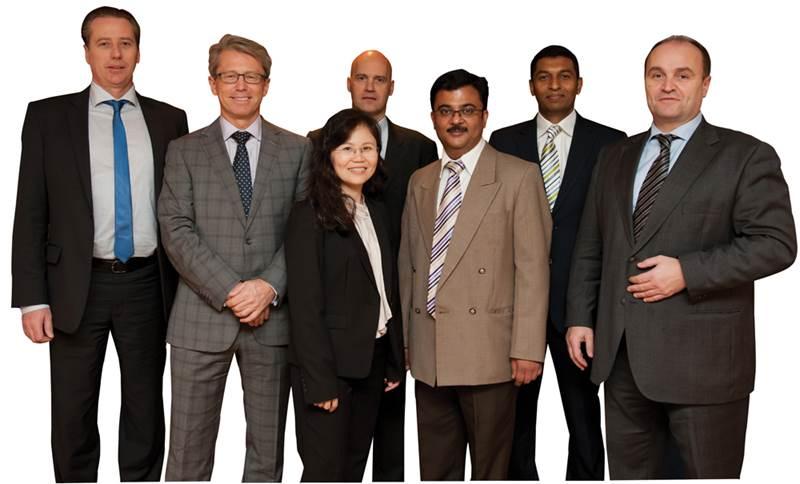 BASS Management Team from left: Haakon Dalan, Per Steinar Upsaker, Martin Bjornebye, Mark Ravi, Nyuk Lan Wong, Rajesh Purkar and Jaume Mortensen.