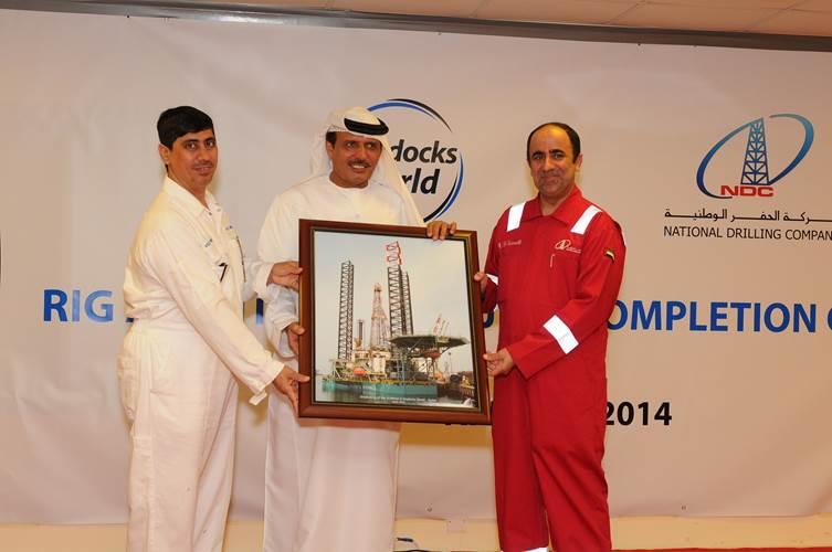From left: DDW VP Ali Alsuwaidi, DDW Chairman Khamis Buamim and NDC CEO Abdalla Saeed Al Suwaidi (Photo: Drydocks World)