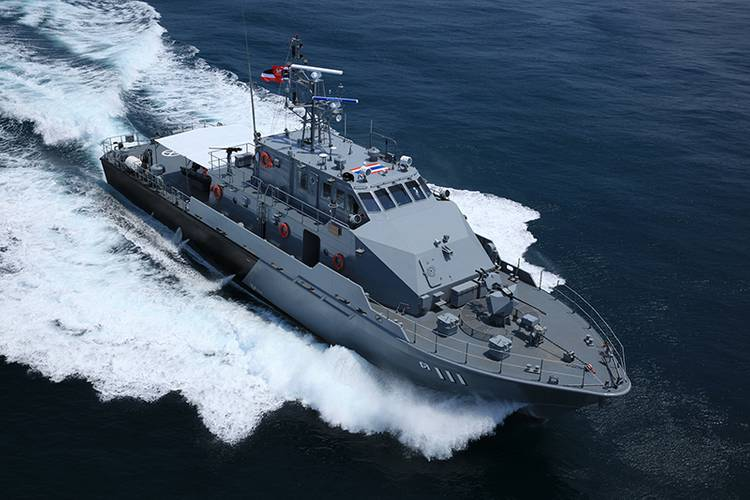 One of the Marsun-built patrol boats.