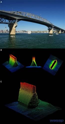 Auckland Channel Bridge pile survey