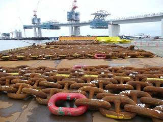 Chains and anchors at Onahama port