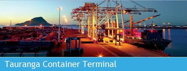 Tauranga Container Terminal (Photo courtesy of Port of Tauranga)