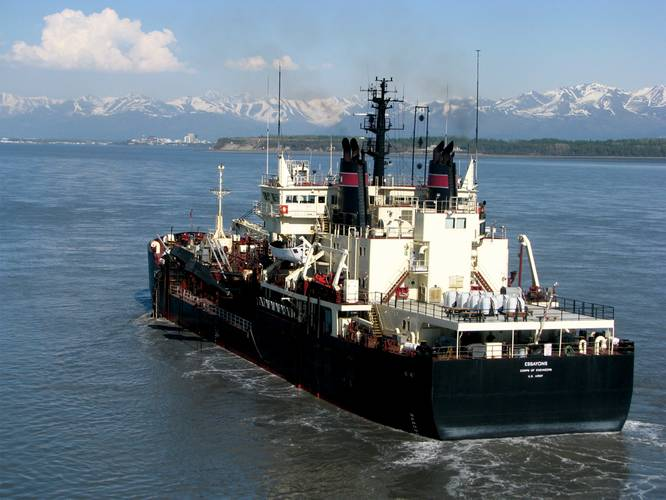 USACE Dredge Essayons which travelled north to the Corps' Alaska District, to dredge the Cook Inlet Navigation Channel.
