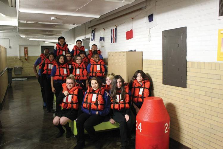 Maritime Academy offers the only elective class in small engine repair which is unique to public school education in Philadelphia (Photo courtesy Maritime Charter High School in Philadelphia).
