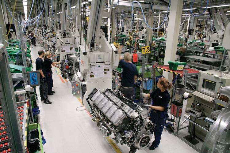 Scania builds every engine specifically to a customer's individual order.  Quality is a primary focus and any member of the production team is empowered to stop the production line if something is not right.