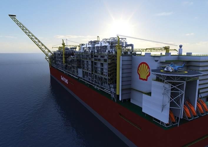 Artist's impression of Prelude FLNG. (Photo: Courtesy Royal Dutch Shell)