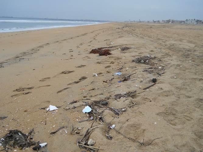 Marine debris found on Seal Beach, Orange County, California. (Credit:NOAA)