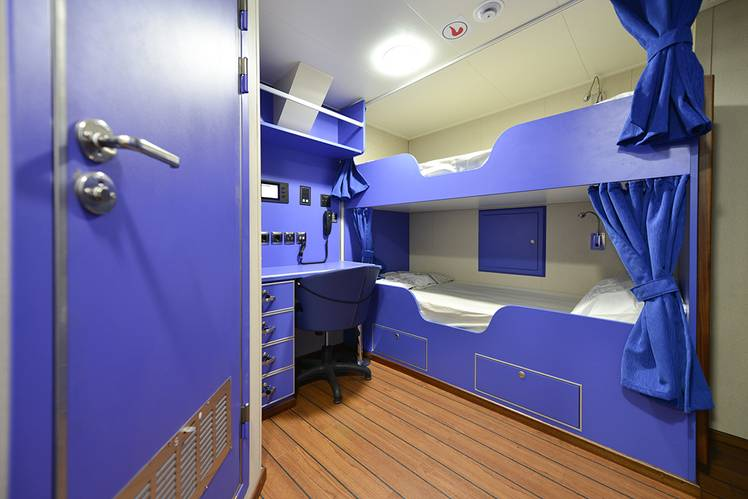 Accommodation is provided for a crew of 10 persons in six cabins, all with en suite facilities. (Photo: Sanmar)