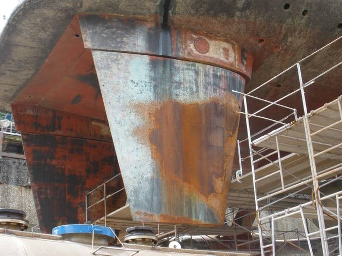 Metal pitting caused by cavitation and corrosion (Photo: Belzona)