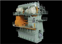Graphic of the second-generation EGR system (orange) integrated with its host engine